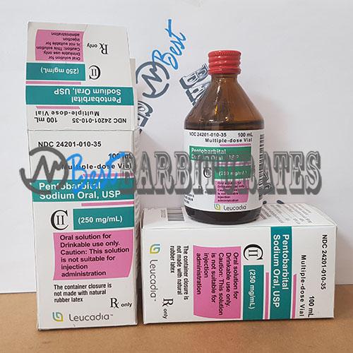 Nembutal Pentobarbital 100 ml oral solution 250mg/ml